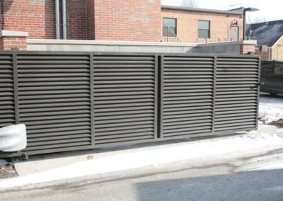 Louver Gate - Brown - Dumpster Slide